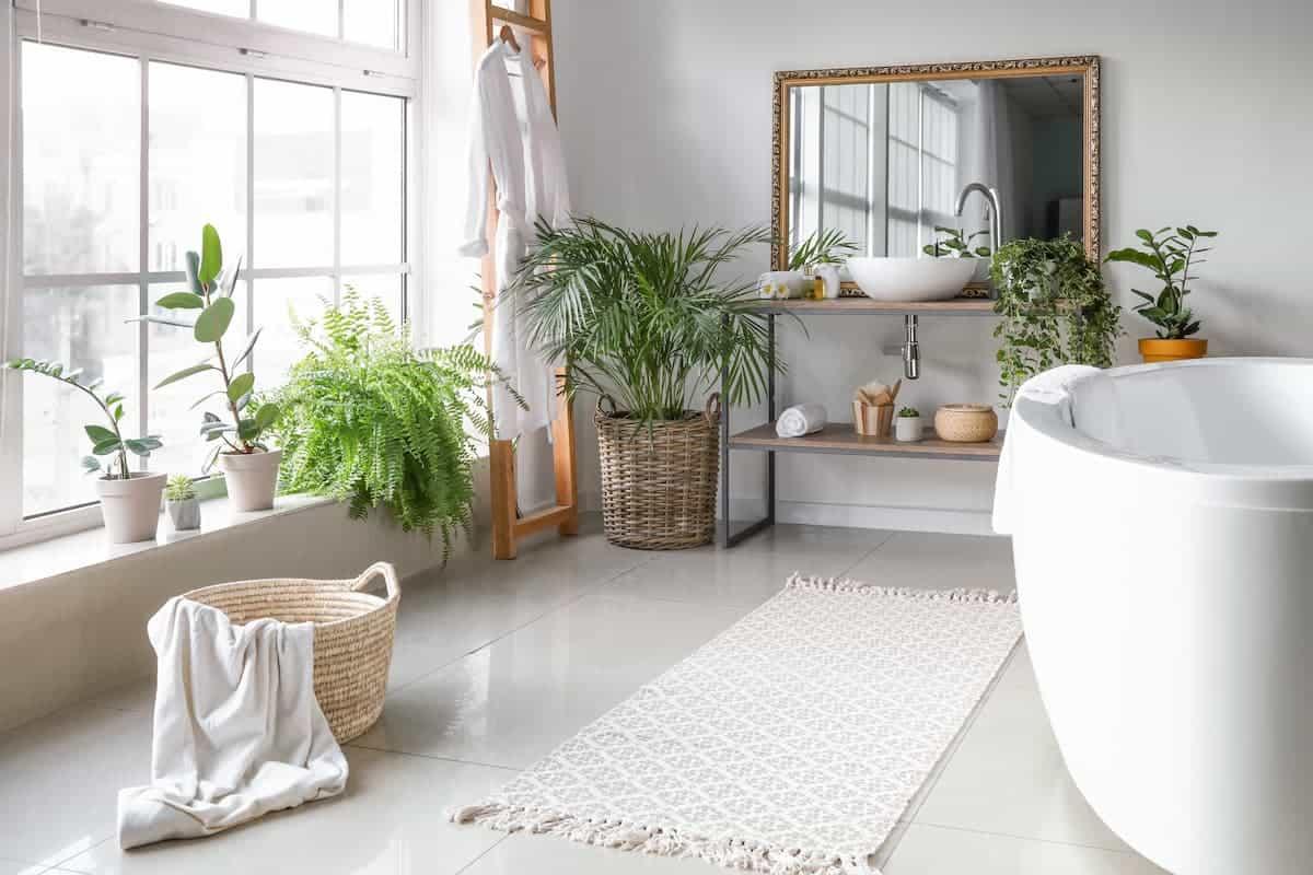Çiçekli Banyo Dekorasyonu