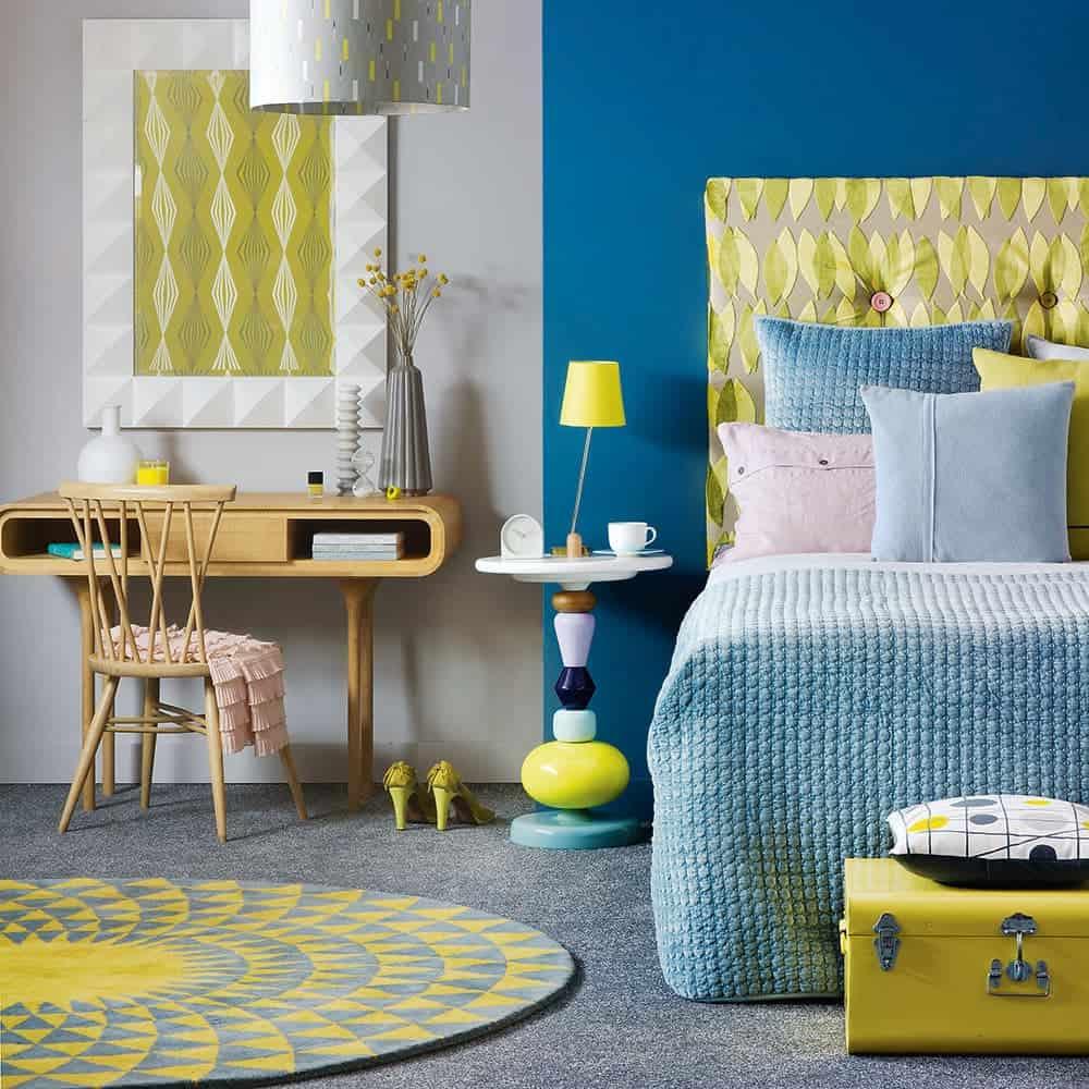 Limon Yeşili Yatak Odası