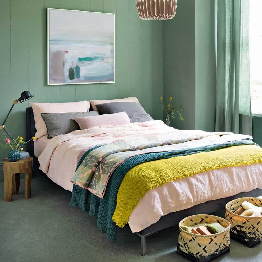 Orman Yeşili Yatak Odası