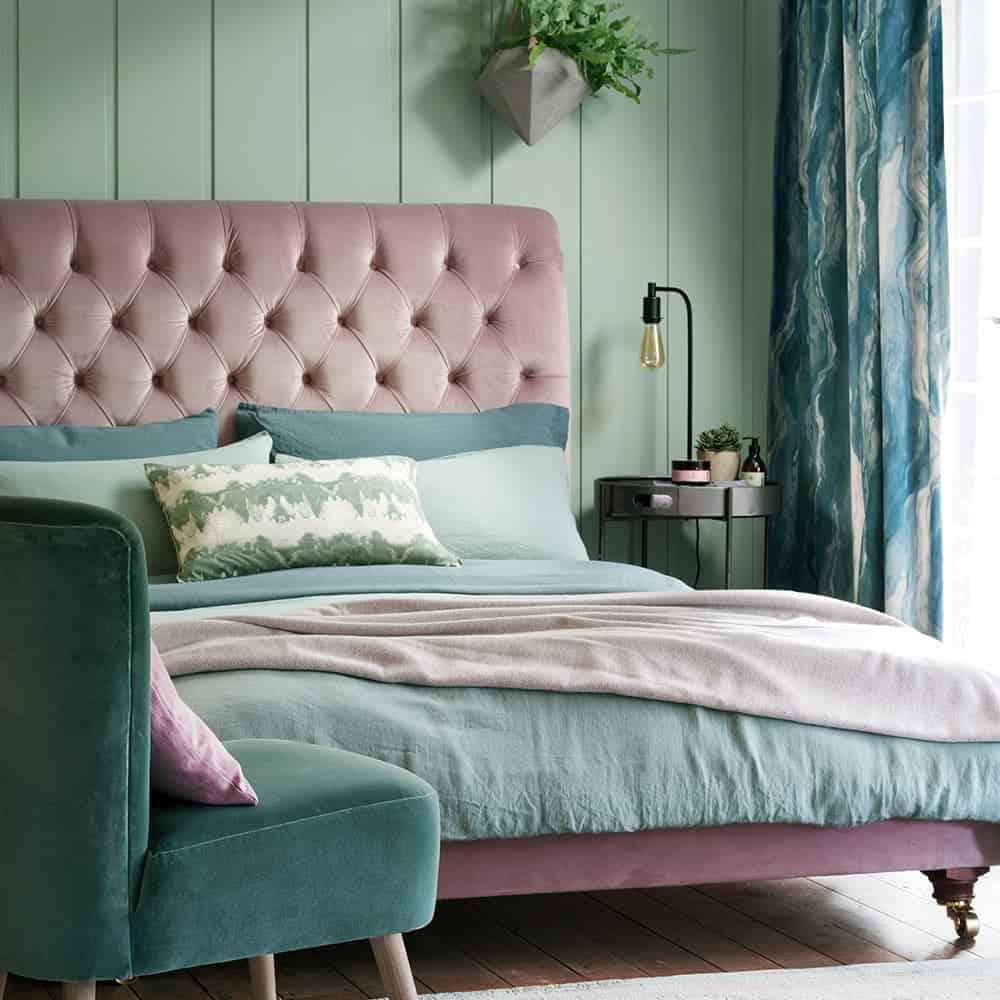 Sukulent Yeşili Yatak Odası