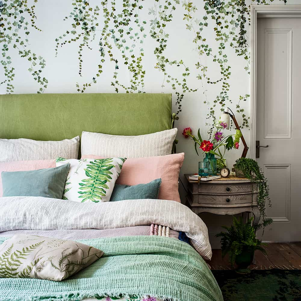 Yeşil Yapraklı Duvar Kağıdı