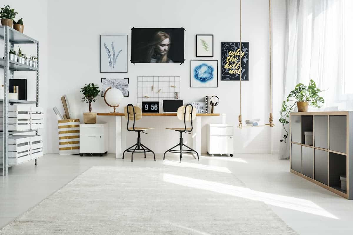 Beyaz Renkli Home Ofis