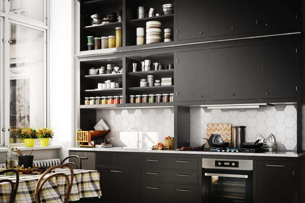 Siyah Mutfak Modelleri